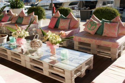 Sitzkissen für den Gartenpalettenmöbel