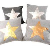 Dekokissen mit Sternen