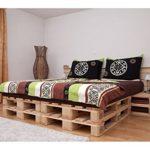 Doppelbett aus Möbelpaletten