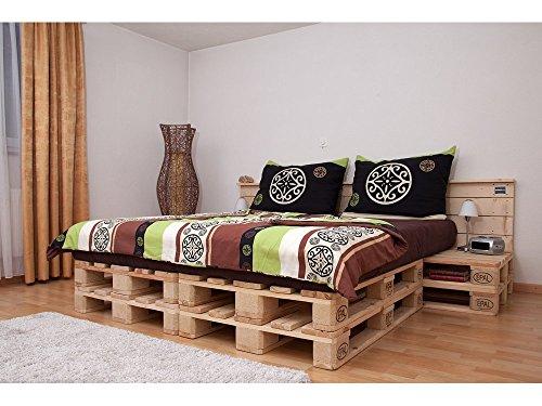doppelbett aus hochwertigen paletten. Black Bedroom Furniture Sets. Home Design Ideas
