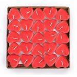 rote Teelichter Herzform