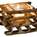 Windlicht mit Holzstäbchen
