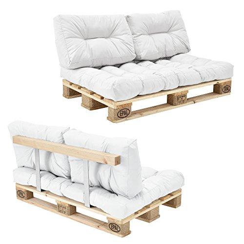 Palettensofa Garten - 2-Sitzer mit Kissen