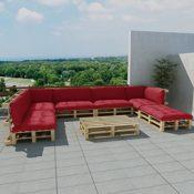 vidaXL Paletten Lounge mit Kissen