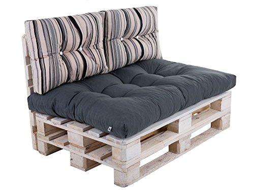 palettenkissen im set braun. Black Bedroom Furniture Sets. Home Design Ideas