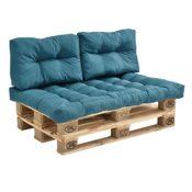 Indoor Sofa mit Palettenkissen