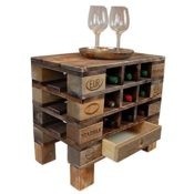 Palettenmöbel Flaschen-/Wein-Regal Kommode