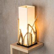Lampe aus Holz