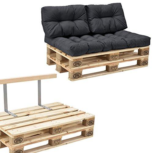 en.casa Paletten-Sofa inkl. Rückenlehne