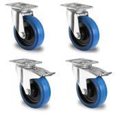 Lenkrollen blau