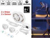 Lichtband mit Bewegungsmelder + Dimmer